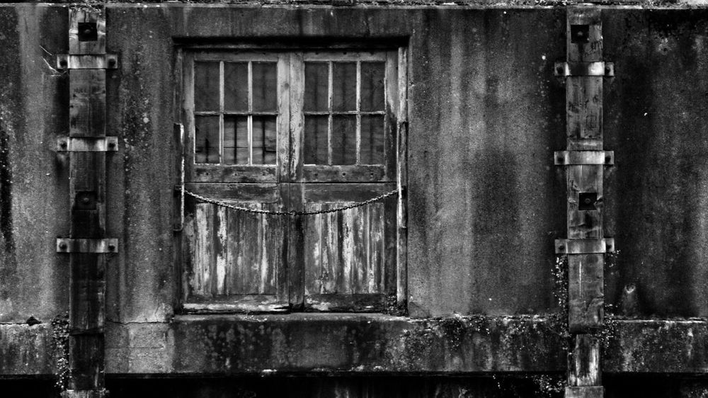 Chained. Door Closed No People Architecture Built Structure Weathered Day Window Abandoned Building Exterior Wood - Material Outdoors Close-up Decay Decay And Dereliction Decayed Beauty Decaying Wood Decaying Building