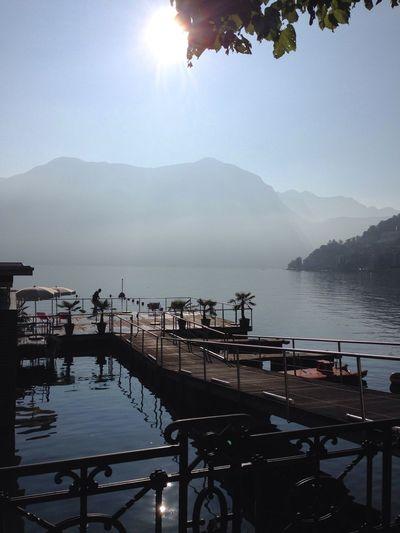 Melancholic Landscapes Lago Di Lugano  Sunlight Autumn