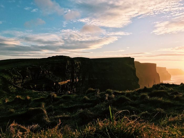 16.52 at Cliffs of Moher // Sunset No People Cloud - Sky Sky Outdoors Architecture Nature Beauty In Nature Landscape Day The Great Outdoors - 2017 EyeEm Awards Let's Go. Together. The Week On EyeEm Your Ticket To Europe Been There.
