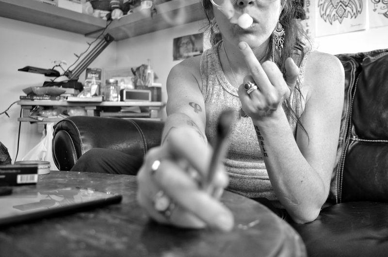 Human Hand Domestic Room Sitting Females Beauty Women