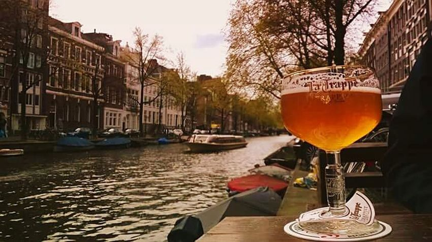 Trappe Beer Time Amsterdam Amsterdam Canal Drinking Beer Relaxing Moments Greatview Bestmoment