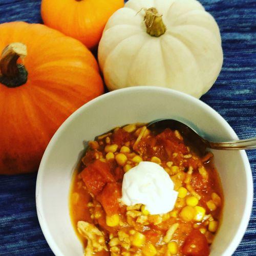 Pumpkinchili Fallrecipes Food And Drink Pumpkins Autumn🍁🍁🍁 Autumnrecipes Food Chili  Homemade Meal Temptation