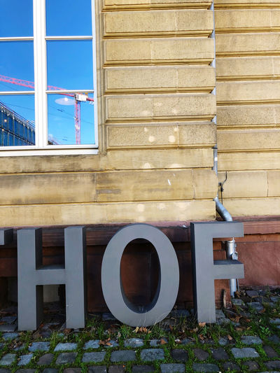 Open window of building