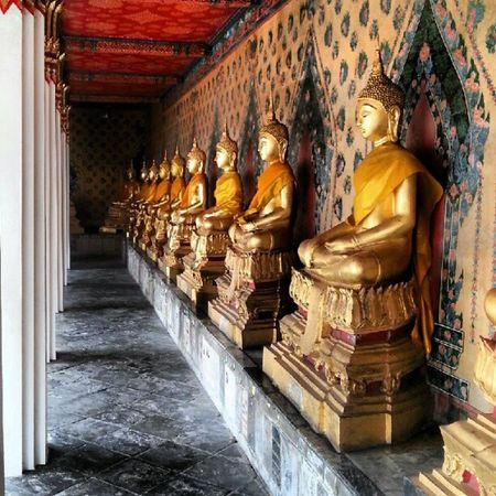 Line of Golden Buddhas
