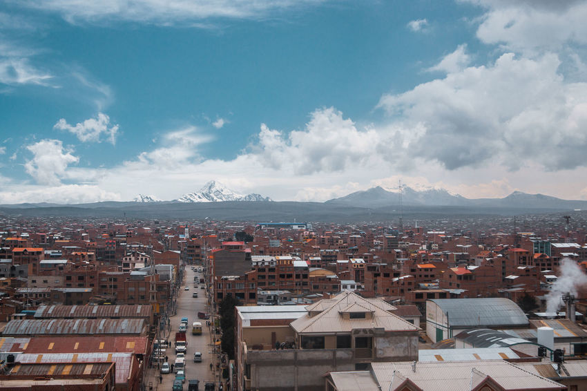 El Alto Views. City Life Cityscape El Alto La Paz Latin America Travel Architecture Building Building Exterior Built Structure City Cloud - Sky Crowd High Angle View Mountain Range Outdoors Residential District Roof Settlement Snowcapped Mountain South America Town Travel Destinations Urban Urbex The Architect - 2018 EyeEm Awards