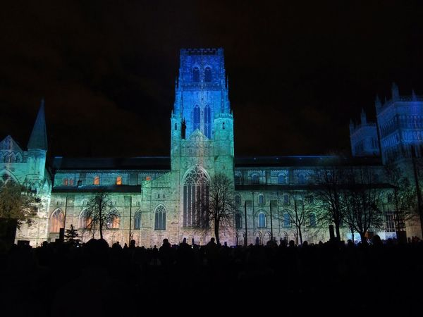 Durham Cathedral Lumiere 2015 Durham Lumiere 2015 Durham Cathedral Durham City County Durham Night Photography North East England The Purist (no Edit, No Filter)