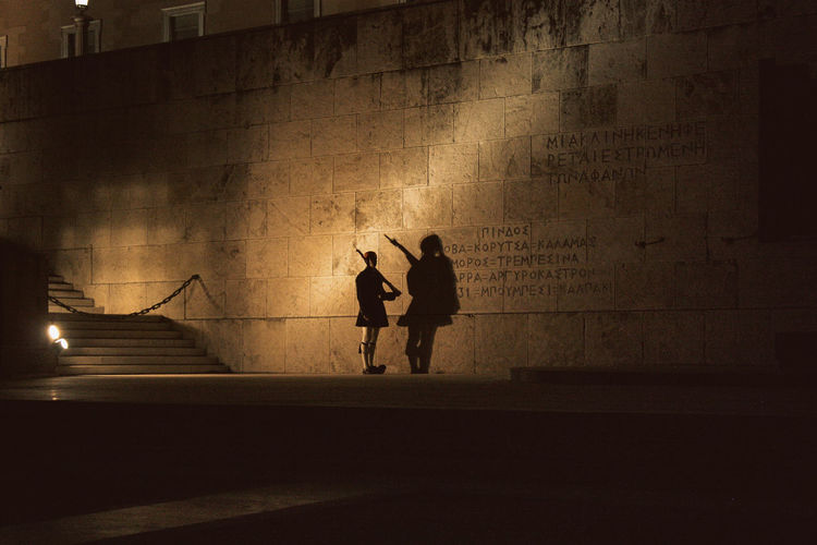 Athens, Greece City Life Guards Night Lights Nightphotography Shadowplay Silhouette Syntagma Square