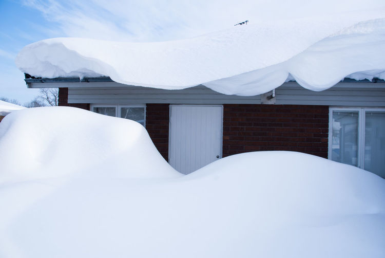 Snow Cold Temperature Winter White Color Architecture Day Covering Built Structure No People Building Exterior Frozen Outdoors Beauty In Nature Mountain Scenics - Nature Tranquil Scene Tranquility Snowcapped Mountain Sweden Nature Snowcapped Houses Blue Sky And Snow House In Winter Winter Wonderland Winter