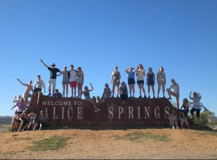 My class visited Australia from Norway! Travel Desert Landscape Hot Day Sand Stone Text Communication Day Outdoors Blue Sky Full Length Architecture Adult People An Eye For Travel Human Connection