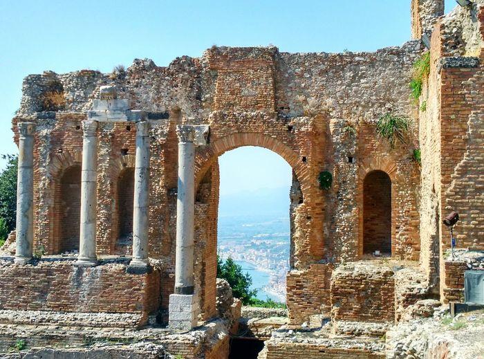 Contemplation Historical Monuments Taormina Coliseum