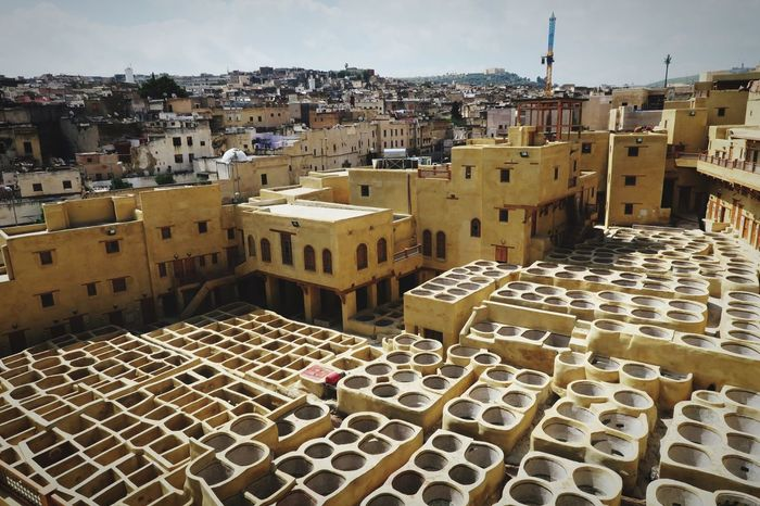 Hello World Morocco Fes Tannery Back In Time Restoration