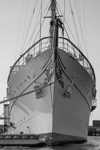 The Danish Royal Yacht Denmark Nautical Vessel Ship Cophenhagen Royalship Yacht Royalyacht Blackandwhite Blackandwhite Photography Danish Yachts