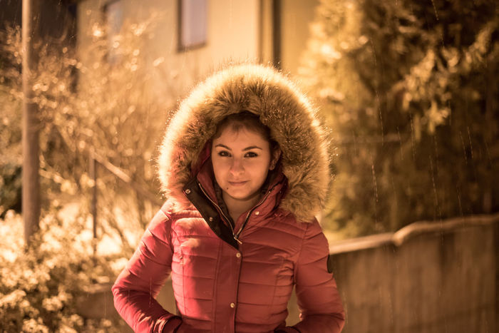 EyeEm Selects Portrait Looking At Camera Smiling Outdoors Winter Happiness One Person Girls People Cheerful Cold Temperature Snow Nature Beauty Warm Clothing Winter Holidays Winter Time Snowy