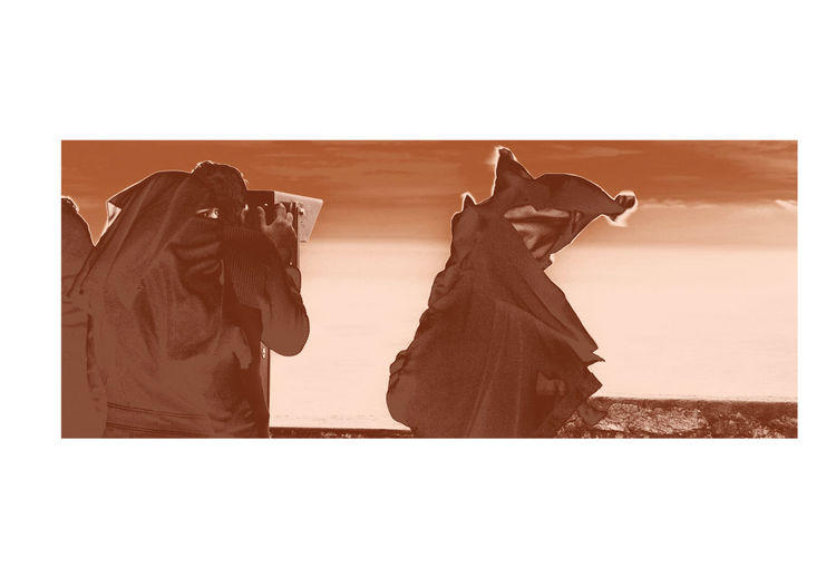 Quo vadis Atmospheric Mood Burka  Cape Point Expression Eyes Outlook South Africa