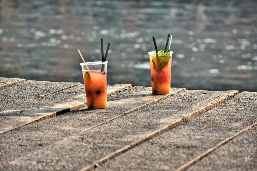Water Port Summer Mojito Cold Temperature Drink Alcohol Cocktail Drinking Glass Drinking Straw Close-up Food And Drink Tonic Water Cola GIN Tropical Drink