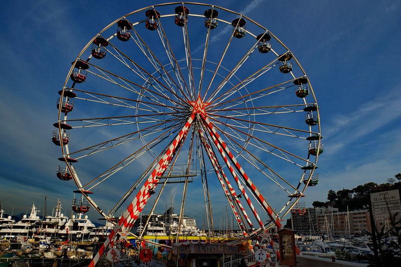 Monaco wheel Amusement Park Amusement Park Ride Architecture Arts Culture And Entertainment Big Wheel Big Wheel-big Money City Day Ferris Wheel Money Laundering Machine No People Outdoors Sky
