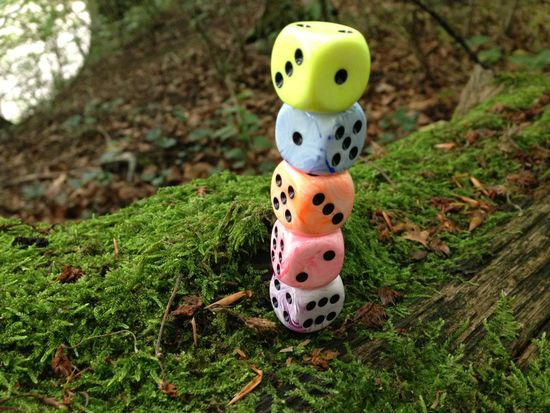 Dice Colors Moss Nature Forest SwitzerlandDices Pastel Colors