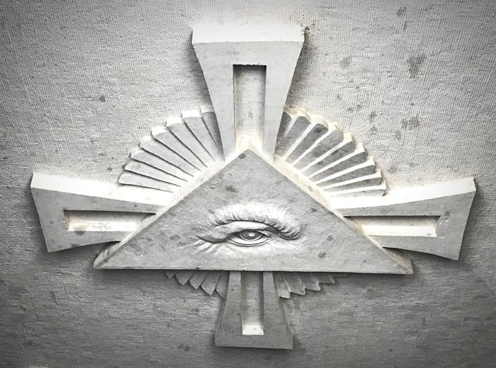 All seeing eye Portugal Templars Portuguese Government Shadow NEW WORLD  All Seeing Eye Illuminati No People Sculpture Old-fashioned Close-up Day Outdoors