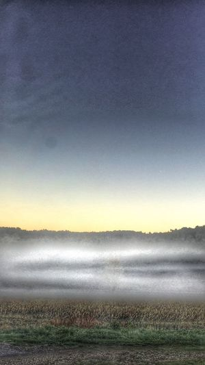 Dawn across a French Valley with the early Morning Mist at La Grange Saint Martin De Riberac