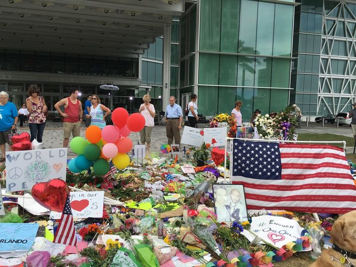 Memorial at the Dr. Phillips Center for the Performing Arts. Orlandostrong