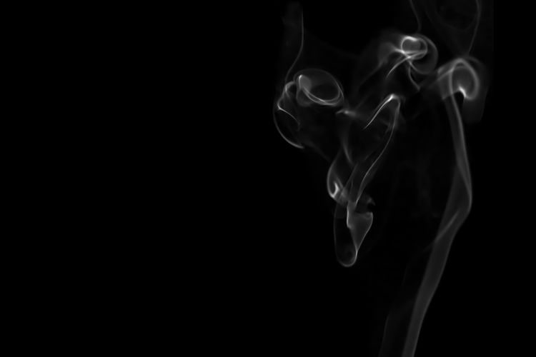 White smoke isolated on black background. Flow smoke or fog effect for montage. Smoke - Physical Structure Black Background Studio Shot Copy Space Motion No People Burning Indoors  Abstract Close-up Swirl Changing Form Black Color RISK Smoke Moving Up Design Nature Effect