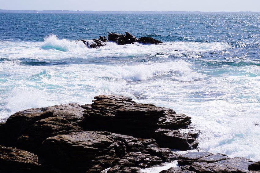 Wave Coastline Landscape Côté Sauvage