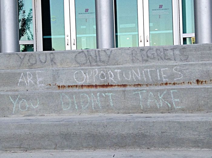 Bsu Chalk Stairs Quote