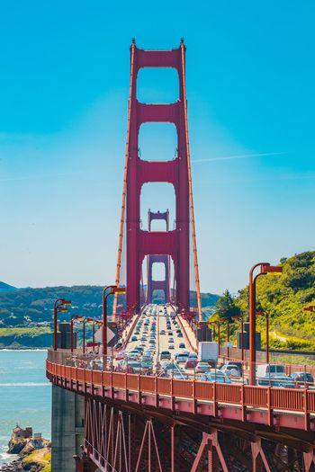 California San Francisco Golden Gate Bridge Bridge - Man Made Structure Architecture Built Structure Transportation Day Suspension Bridge Travel Destinations Outdoors Sky Water