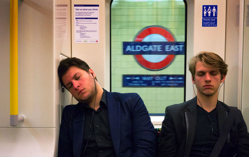 --Resting-- Aldgate East London London Lifestyle Londonlife Men Only Men People Resting Two People Underground