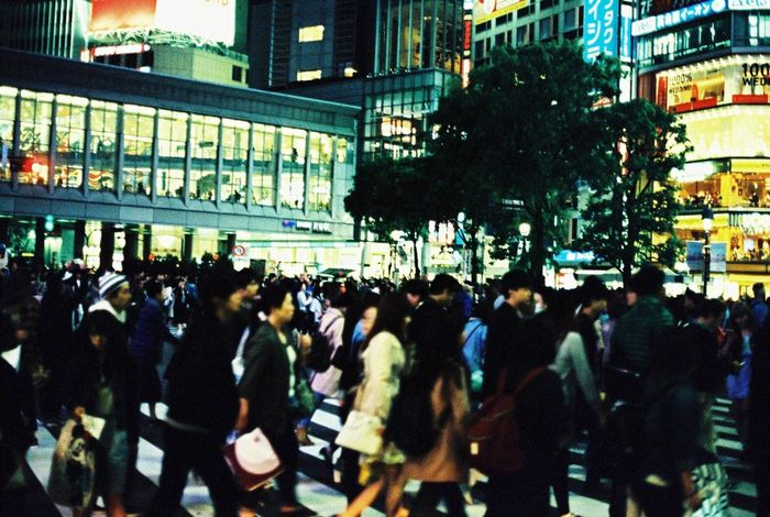 People Crossing Street in Shibuya Tokyo Japan Streetphotography Shibuyacrossing 35mm Film Film Photography Canon F-1 Kodak Ektachrome Check This Out EyeEm Japan Showcase: January