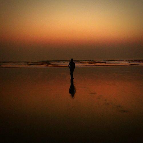 Colour of Dusk....... Dusk Sunset Lonesome At Dusk Beach