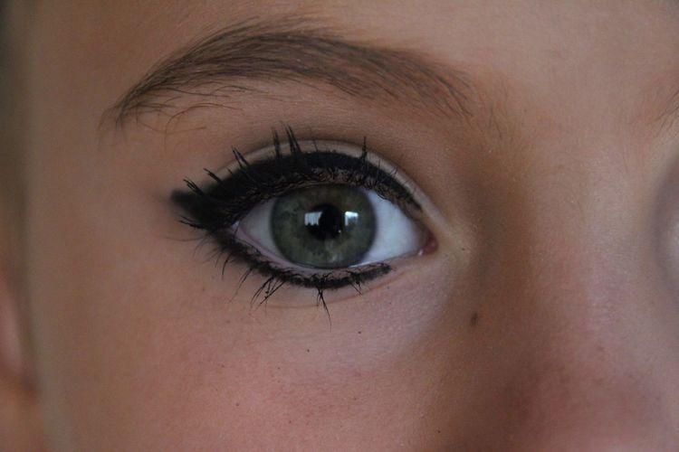 Close-up portrait of woman eye