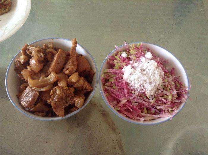 中国传统特色菜,炖猪肉,糖拌萝卜