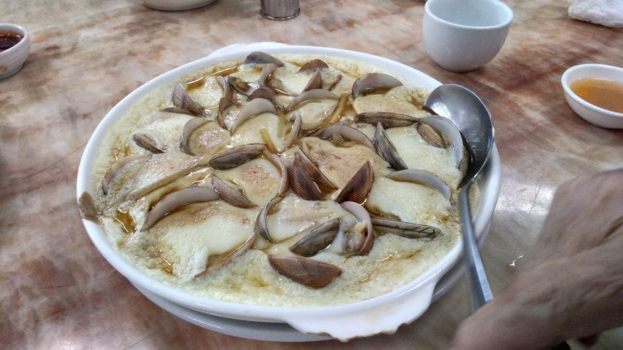 Clam on Egg Food Ready-to-eat Clamshell Mussles No People