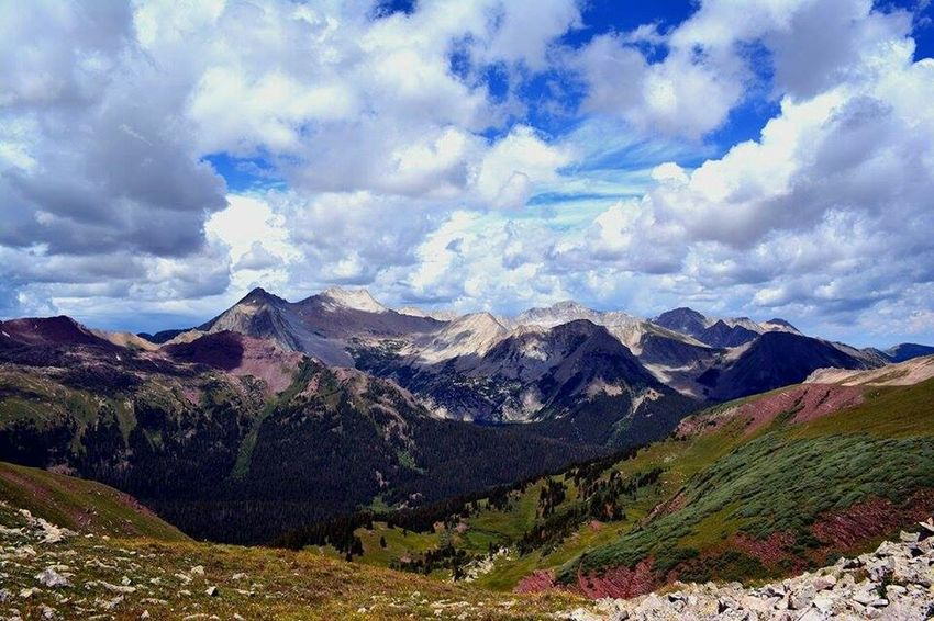 Castle Peak from the top of Buckskin Pass at 13,000 ft. Colorado Coloradogram Co Coloradotography Coloradotography_toc Hiking Hiking Trail Mountains Mountain Maroonbells
