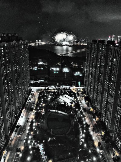I live here Building Exterior Architecture City High Angle View Transportation Built Structure Illuminated Cityscape Road Car Night City Life Traffic Motion Sky Land Vehicle Outdoors Skyscraper Rush Hour Speed Macau Taipa  ASIA Park - Man Made Space