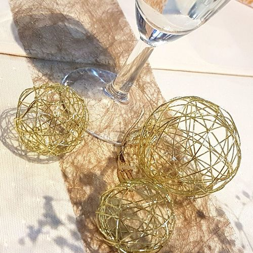Indoors  No People Close-up Day Glass Glass - Material Gold Decoration GoldenWedding GoldWedding Wedding Day Weddingdecor Weddingdetails Shiny Gold Colored Celebration Indoors  Wine Not