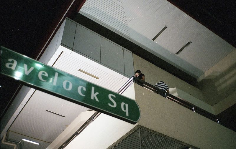 Low angle view of sign board