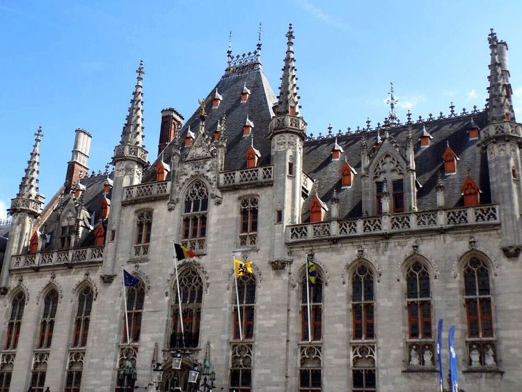 Architecture Religion Low Angle View Place Of Worship Built Structure Spirituality Building Exterior Day Travel Destinations History Outdoors Sky Clear Sky No People City Politics And Government Belgium Brugge, Belgium Edendessart