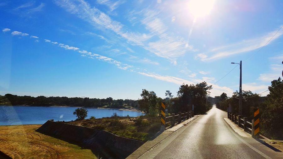 Barragem Tree Water Sunlight Road Sky Cloud - Sky