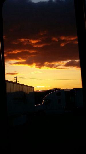 Oregon Sunset At A Truckstop