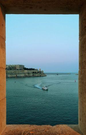 Malta Valletta Huaweip20pro Water Nautical Vessel Clear Sky Cityscape Beach Blue Sky Horizon Over Water