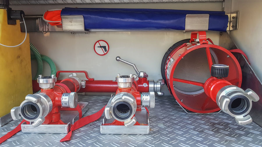 Fire Hose In Vehicle