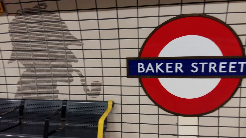Architecture Baker Street Station Close-up Conandoyle London No People Red Sherlock Holmes Subway Text Tube Underground England🇬🇧 Neighborhood Map EyeEm LOST IN London Postcode Postcards Be. Ready. Adventures In The City