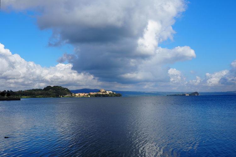 Panoramic view of sea against sky