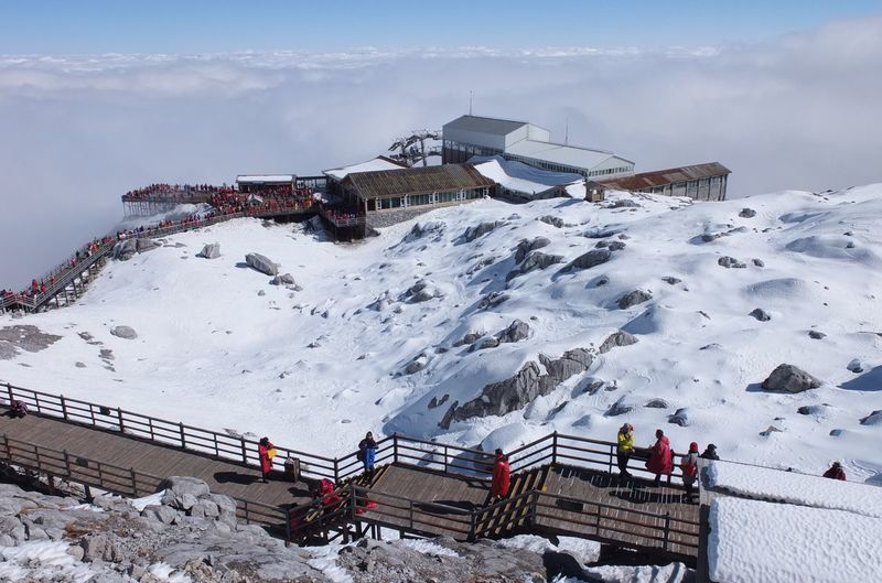 Yulong snow mountain Cloud - Sky Naturelovers Cold Temperature Winter Snow Mountain Nature Built Structure Sky