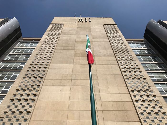 IMSS IMSS Architecture Built Structure Real People Day Building Exterior Full Length Text