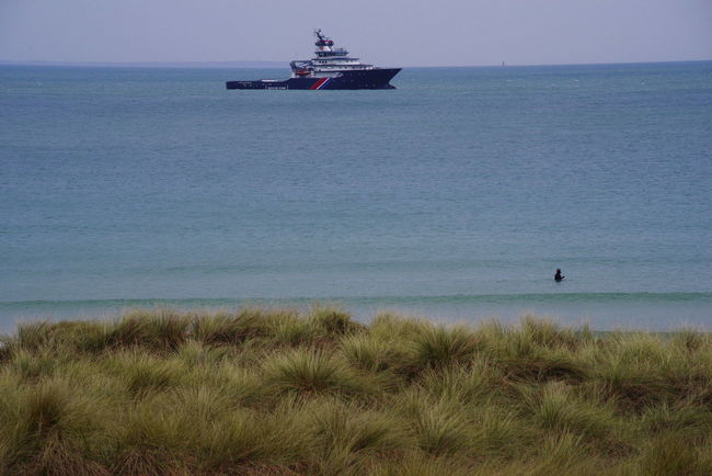 Brittany Ocean View Grass Marram Grass Nautical Vessel No People Sea Tugboat Water Walker