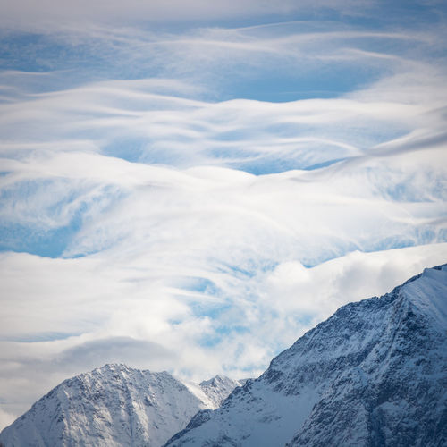 Mountain Cloud - Sky Scenics - Nature Beauty In Nature Cold Temperature Snow Winter Tranquil Scene Sky Mountain Range Tranquility Snowcapped Mountain Non-urban Scene Nature Environment Day No People Landscape White Color Mountain Peak Outdoors French Alps Clouds Clouds And Sky Form My Best Photo The Minimalist - 2019 EyeEm Awards