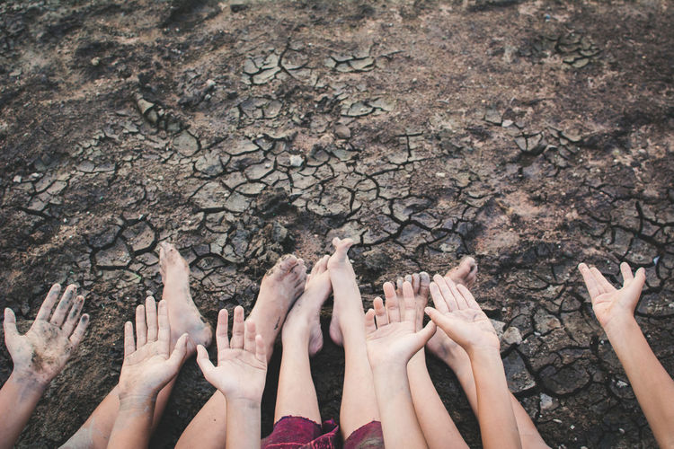 Asian  Drought Earth Hope Hot Land Life Nature Broken Change Child Climate Concept Crack Environment Ground Heat Human Kid Outdoor Sad Shortage Soil